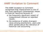 aarf invitation to comment
