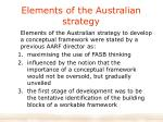 elements of the australian strategy