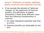 issue 2 definition of assets liabilities equity revenues and expenses cont d1