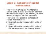 issue 3 concepts of capital maintenance