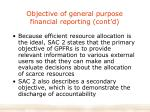 objective of general purpose financial reporting cont d