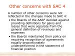 other concerns with sac 4