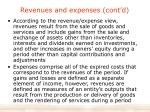 revenues and expenses cont d