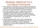 strategic objectives for a conceptual framework