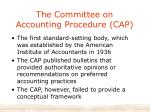 the committee on accounting procedure cap
