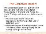 the corporate report
