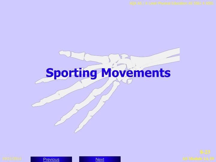 Sporting Movements