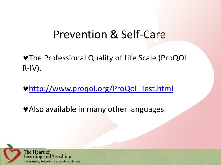 Prevention & Self-Care