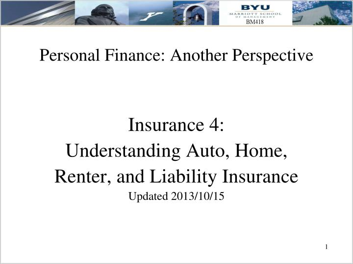 personal finance another perspective n.