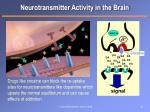 neurotransmitter activity in the brain