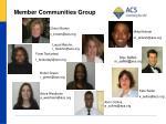 member communities group1