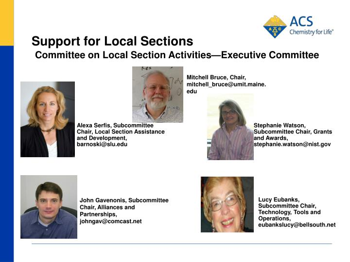 support for local sections n.