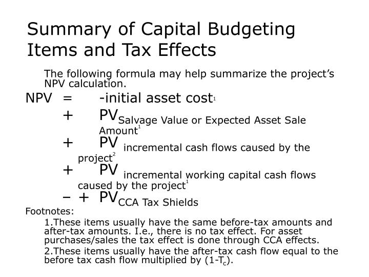 net present value and salvage value Net salvage value in accounting, an estimate of the after-tax value of an asset at the end of its depreciation for example, a firm's computer depreciates in price regulated industries, the salvage value may be a negative value because it includes the net cash outflow in removing the asset from.