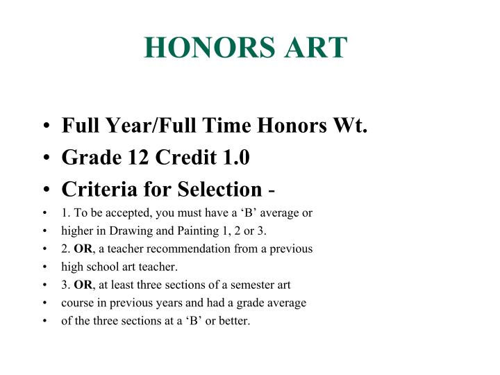 Honors art