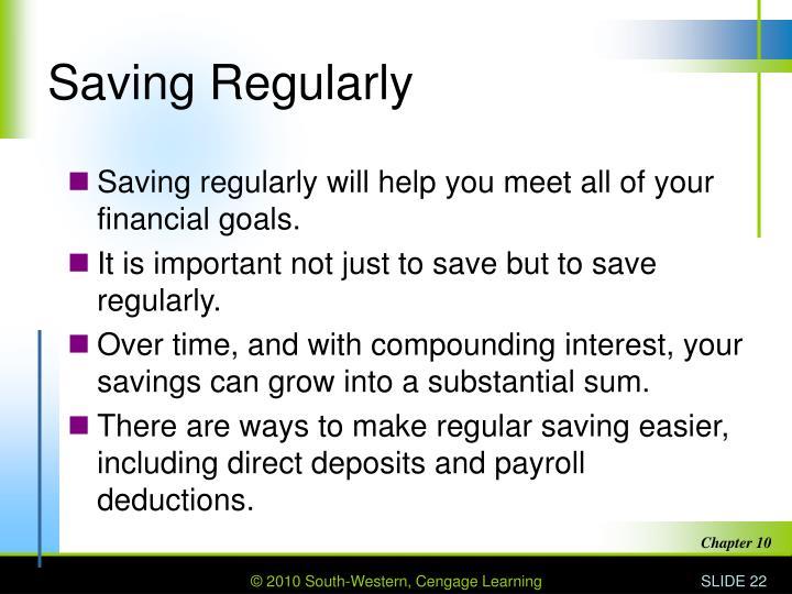 Saving Regularly