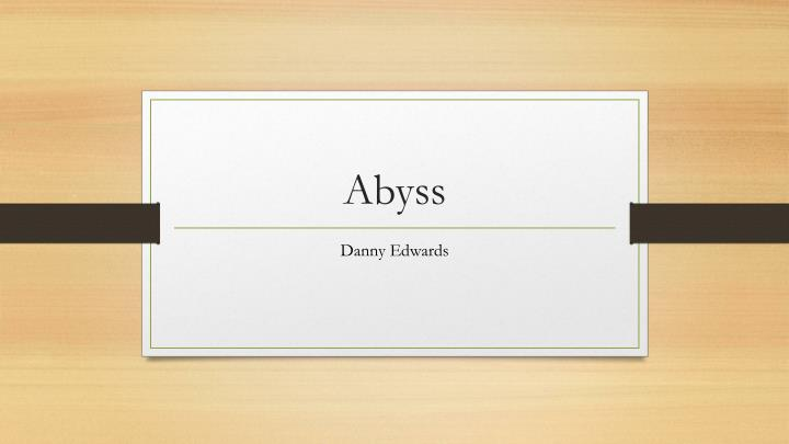 abyss n.