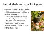 herbal medicine in the philippines