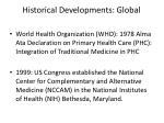 historical developments global