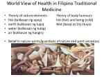 world view of health in filipino traditional medicine1