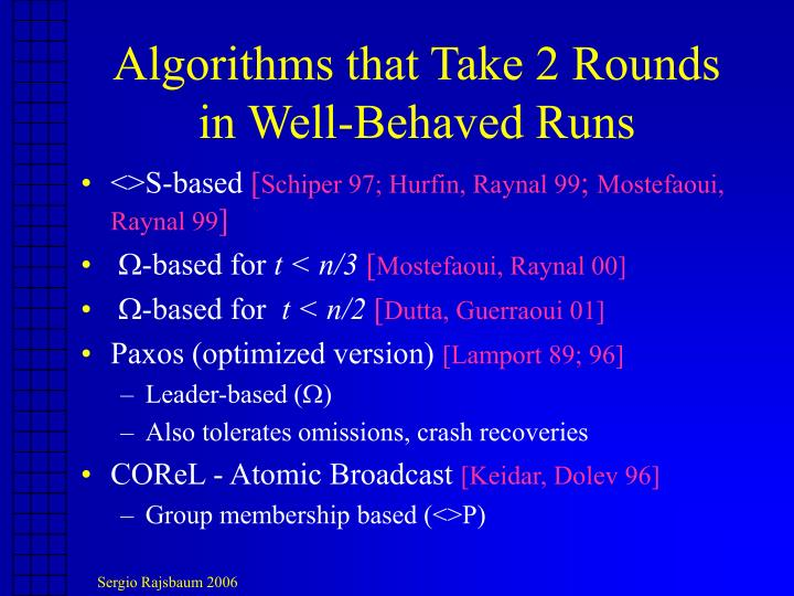Algorithms that Take 2 Rounds
