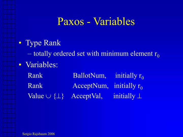 Paxos - Variables