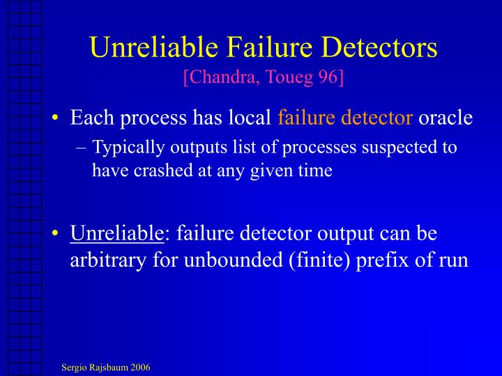 Unreliable Failure Detectors