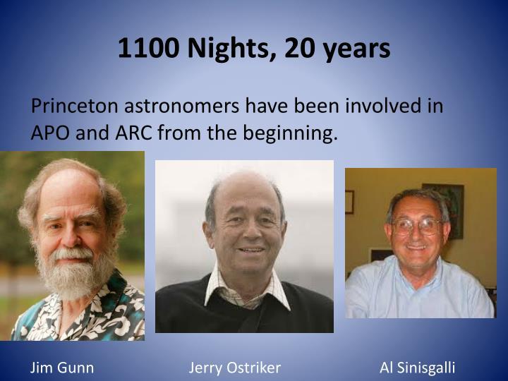 1100 nights 20 years