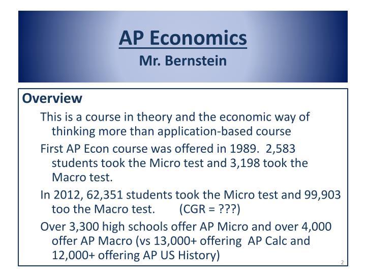 Ap economics mr bernstein