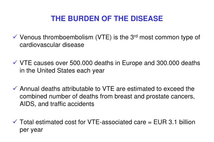 The burden of the disease