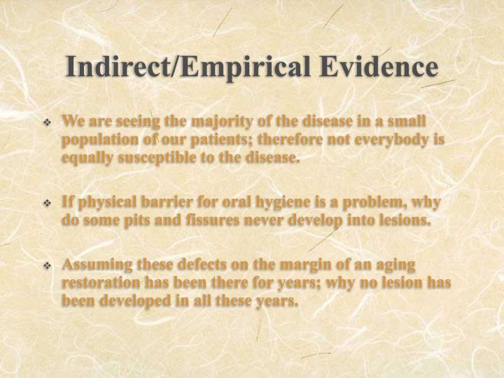 Indirect/Empirical Evidence