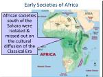 early societies of africa1