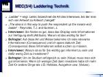 mec 3 4 laddering technik