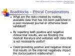 roadblocks ethical considerations