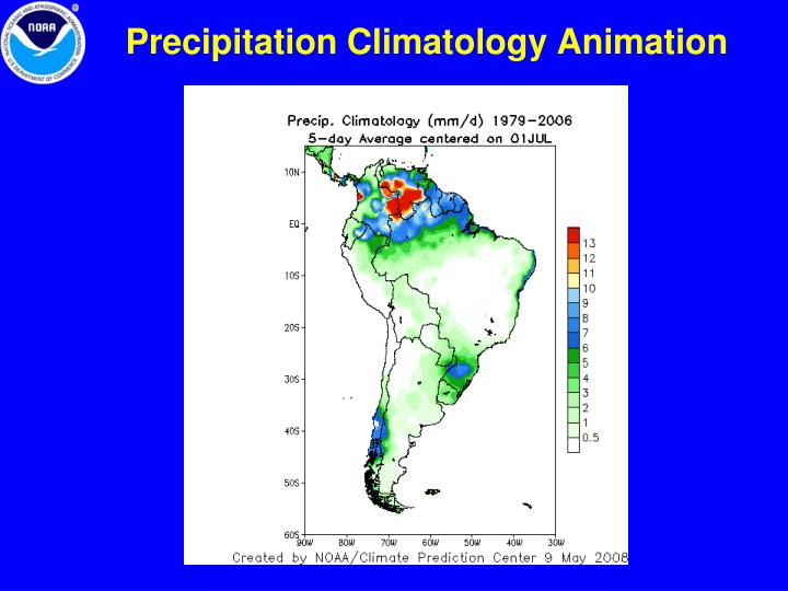 Precipitation Climatology Animation