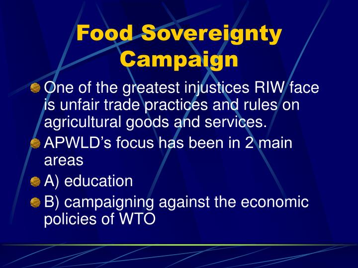 Food Sovereignty Campaign