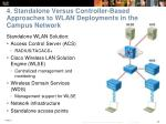 4 standalone versus controller based approaches to wlan deployments in the campus network