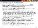 configuring ip multicast 4