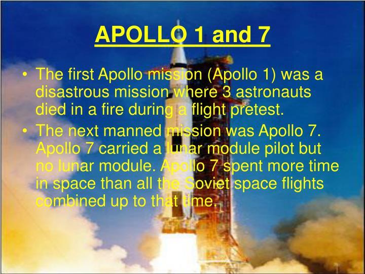 APOLLO 1 and 7