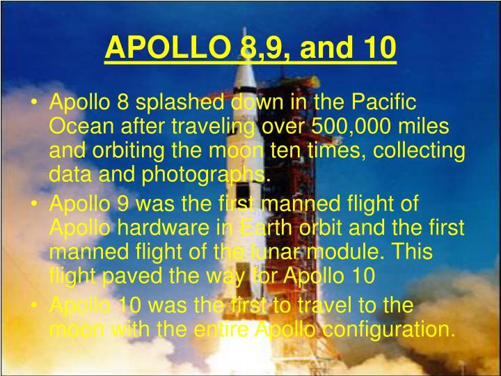 APOLLO 8,9, and 10