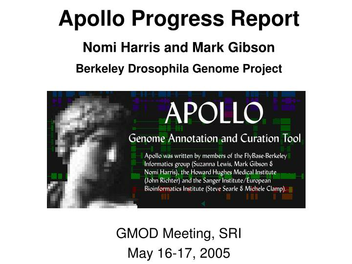 Apollo progress