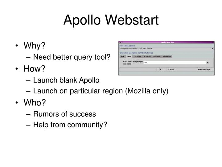 Apollo Webstart
