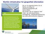 maritim infrastruktur for geografisk information