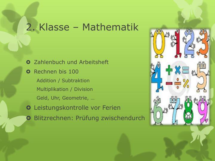 2. Klasse – Mathematik