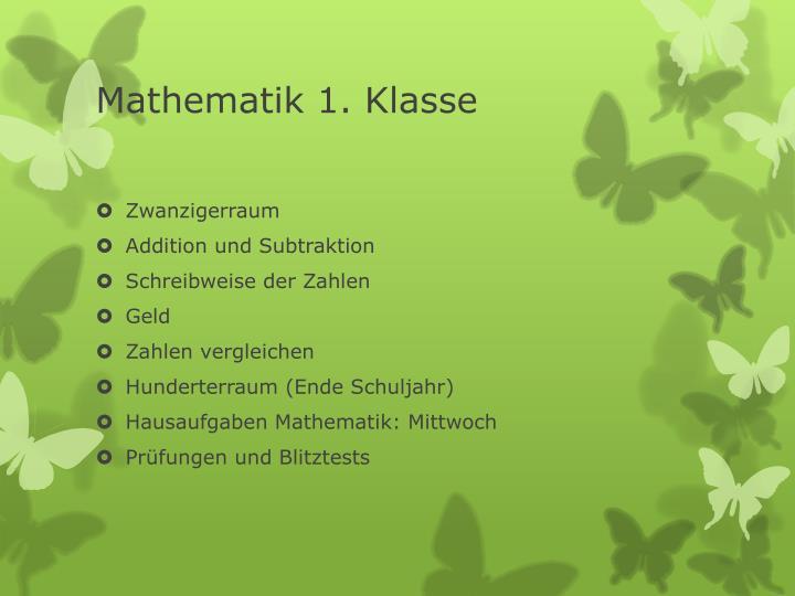 Mathematik 1. Klasse