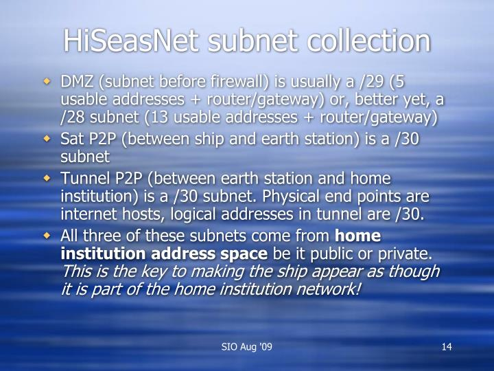 HiSeasNet subnet collection