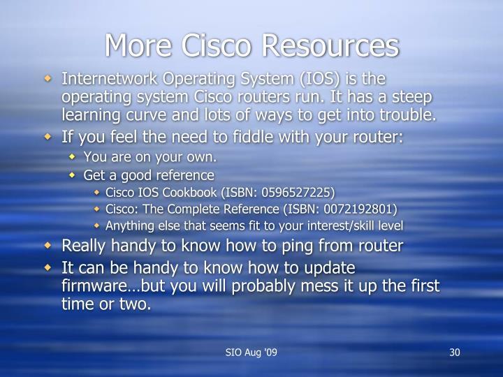 More Cisco Resources