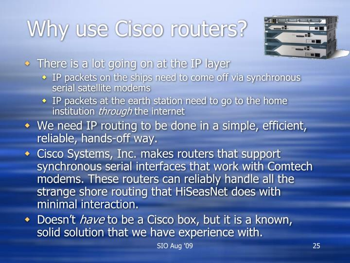 Why use Cisco routers?
