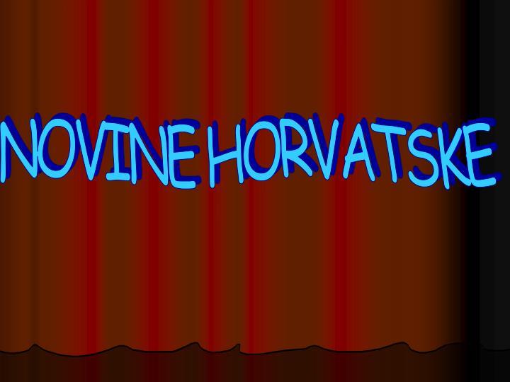 NOVINE HORVATSKE