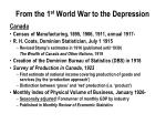 from the 1 st world war to the depression2