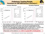 preliminary tracking results resolutions for cms gem detector in e ta s ector 5